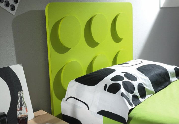 łóżko z zagłówkiem lego mroomy