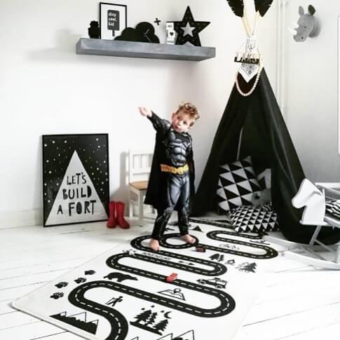 dywan dla dziecka z torem do autek