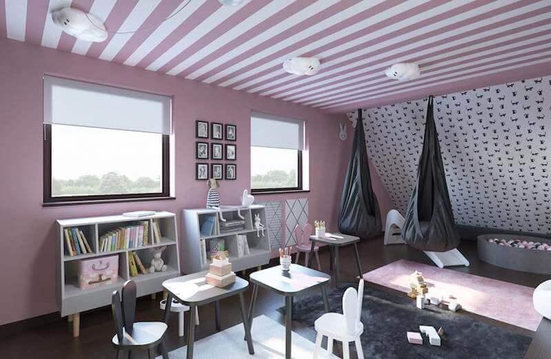 projekt pokoju dla bliźniaków mroomy