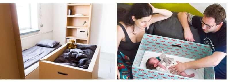 łożeczka kartonowe dziecięce do samodzielnego złożenia