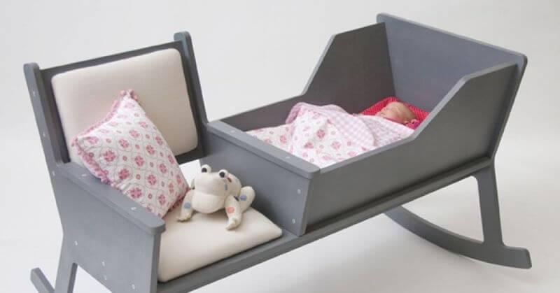 łóżeczko kołyska z miejscem do siedzenia Ontwerpduo