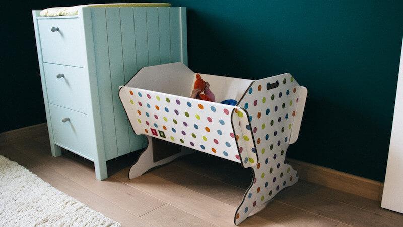 tekturowe łóżeczko dla dziecka 40settimane