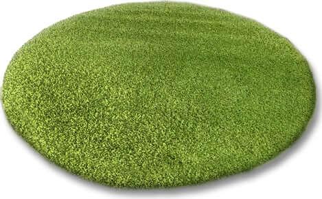 zielony okrągły dywan do pokoju dziecięcego