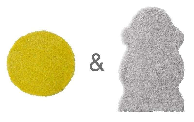 Dywan żółty i dywan fardrup do pokoju dziewczynki