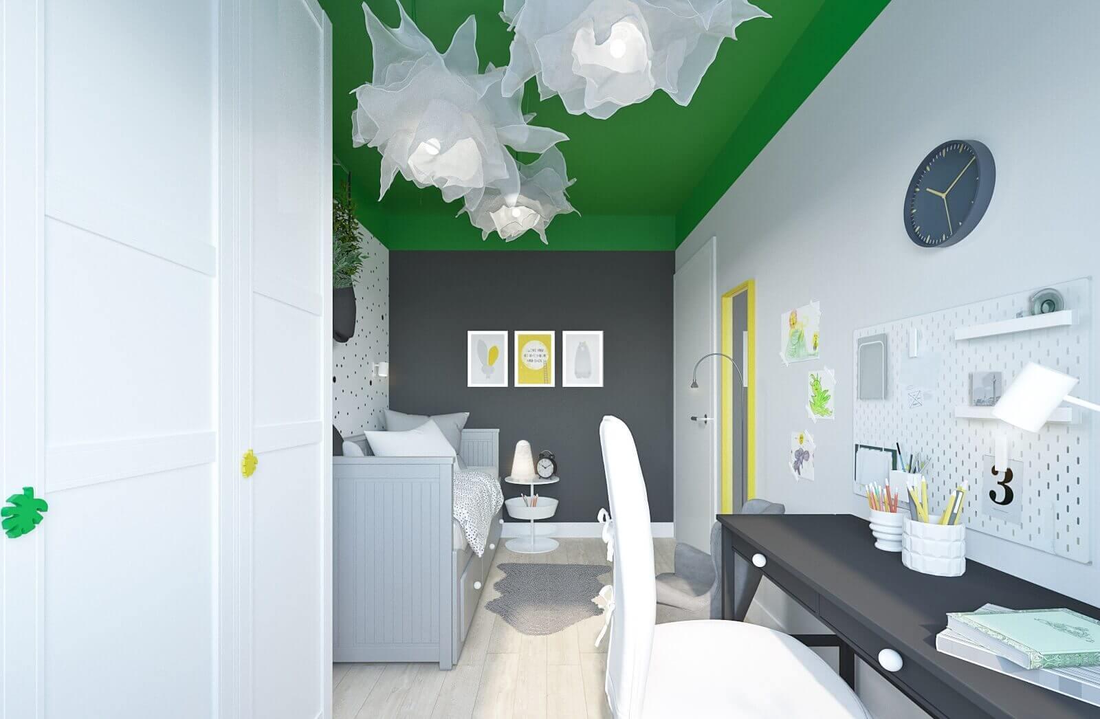 projekt małego pokoju dla 8 letniej dziewczynki z mebli ikea mroomy