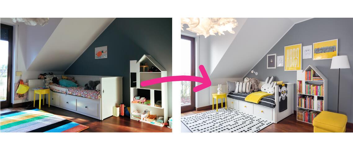 metamorfoza pokoju dziewczynki 6 lat