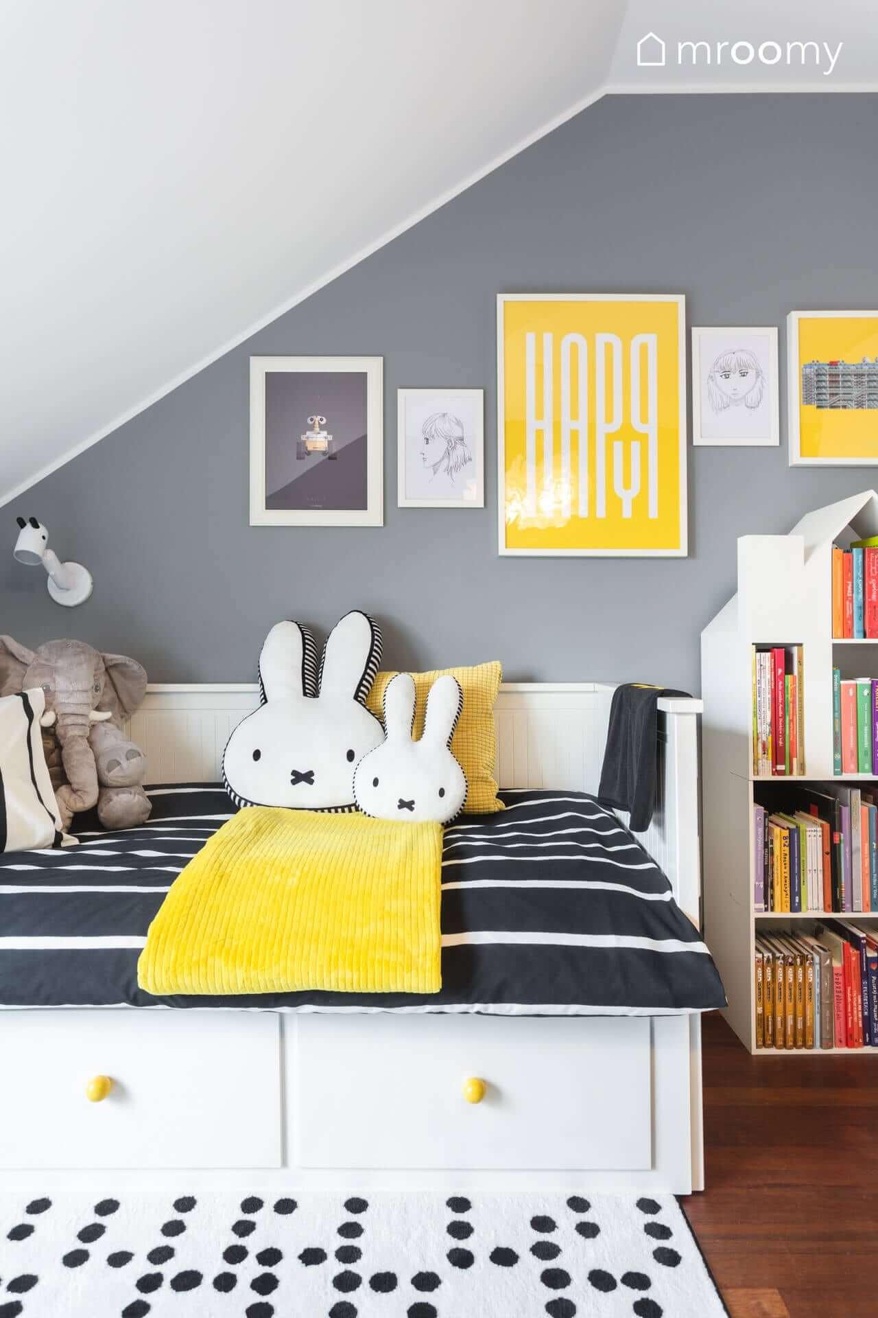 hemnes łóżko gałki little form studio