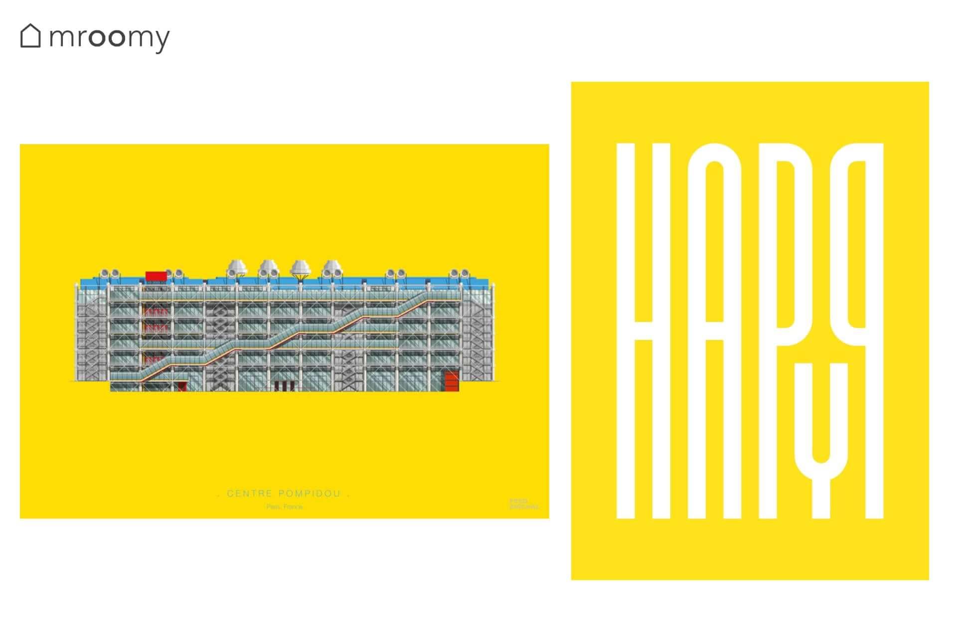 "Plakaty ""Pompidou"" ""Happy"""