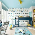 Projekt pokoju dla chłopca, 4-letniego Piotra (#117)